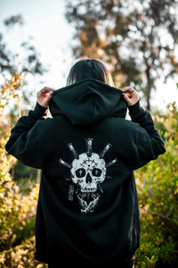 Saints Skull Zip-Up Hoodie