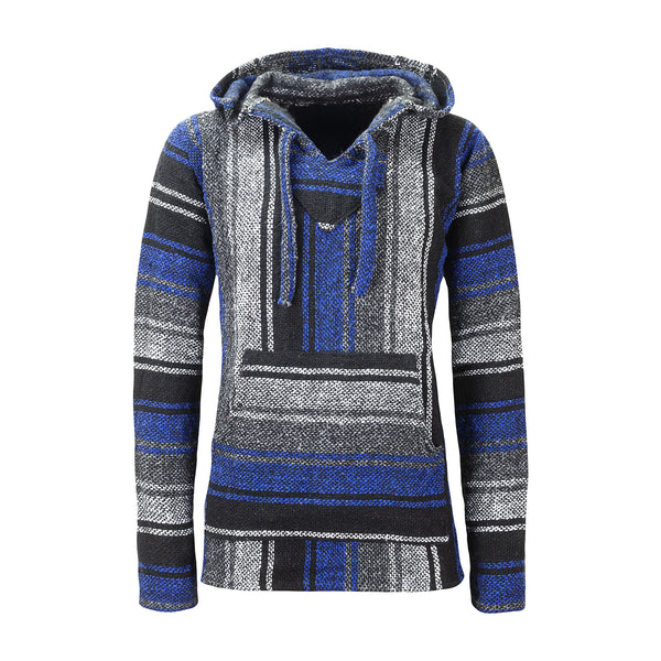 Mexican Baja Hoodies Drug Rug Blue | Men & Women | MADEINMEXI.CO
