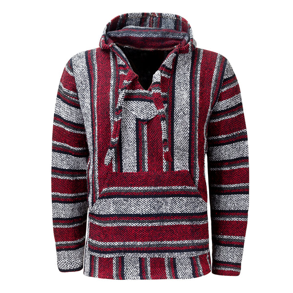 Baja Hoodie Red | Mens & Womens | Drug Rug | MADEINMEXI.CO