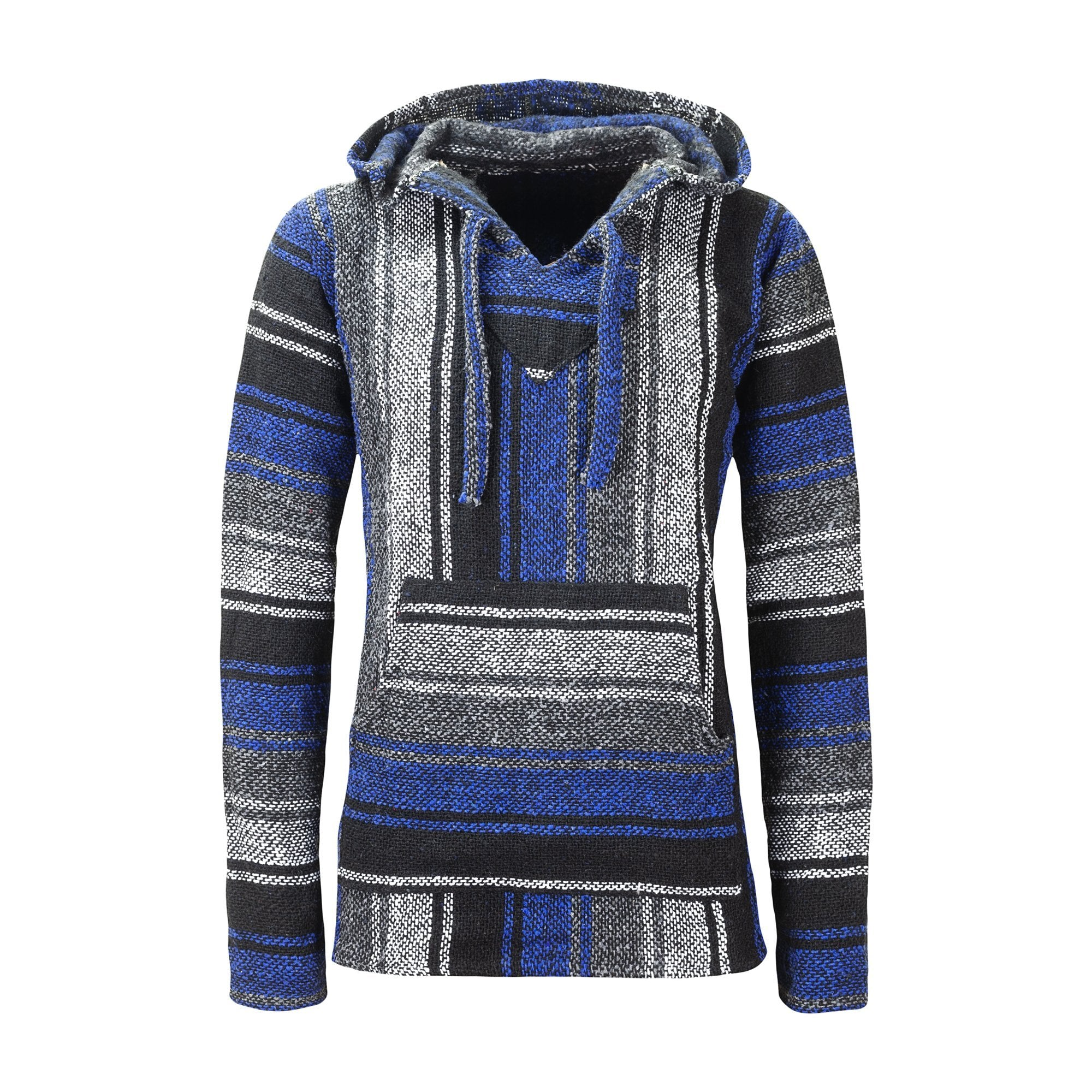 Mexican Baja Hoodies Drug Rug Blue | MADEINMEXI.CO