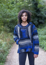 Load image into Gallery viewer, Mexican Baja Hoodies Drug Rug Blue | Men & Women | MADEINMEXI.CO