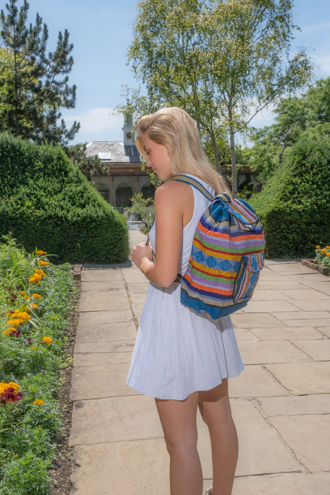 Pinzon Escolar Multicolour Canvas Backpack | MADEINMEXI.CO