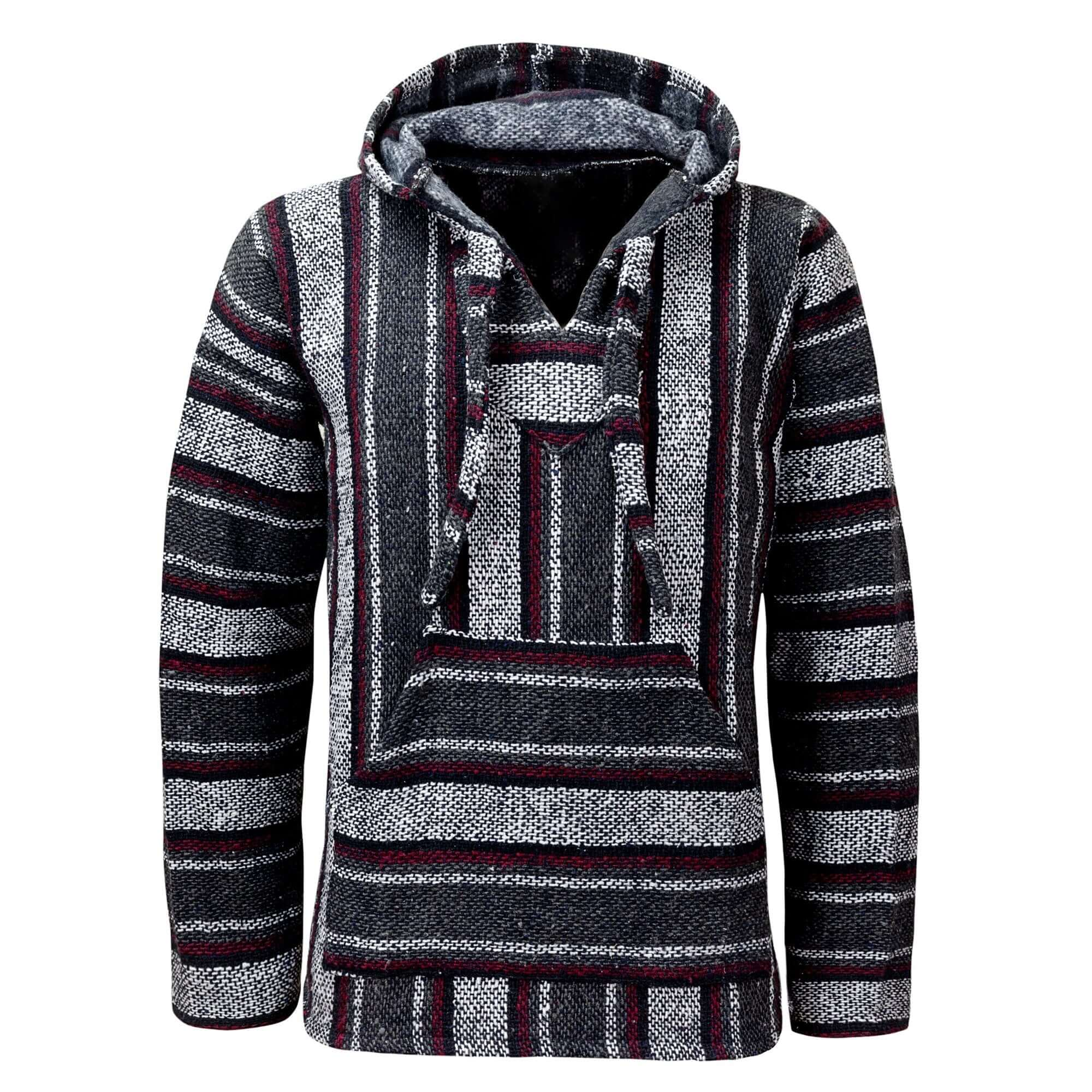 Baja Hoodie Grey Drug Rug | Mens & Womens | MADEINMEXI.CO