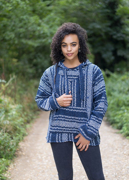 Drug Rug Petrolia Blue Baja Hoodie | Mens & Womens | MADEINMEXI.CO