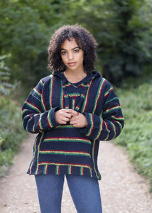 Baja Hoodie Rasta | Mens & Womens | Drug Rug | MADEINMEXI.CO