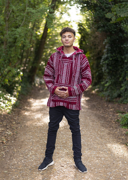 Drug Rug Red Baja Hoodie | Mens & Womens | MADEINMEXI.CO