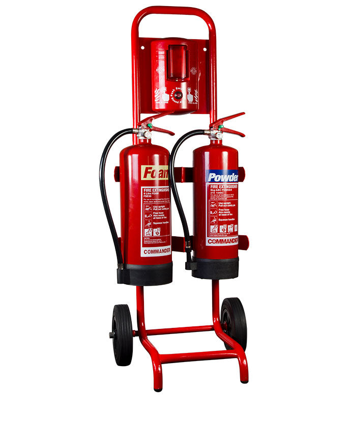 Commander Compact Double Extinguisher Trolley