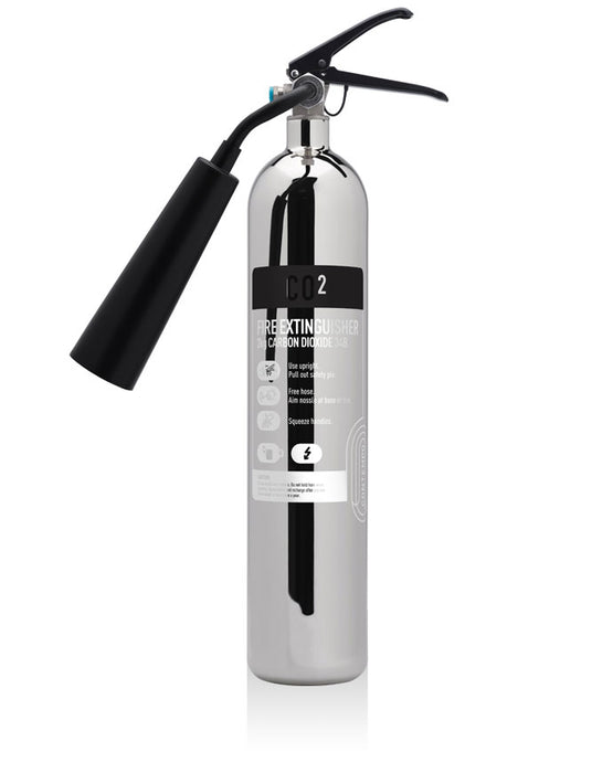 Commander's Contempo 2kg CO2 Fire Extinguisher Polished