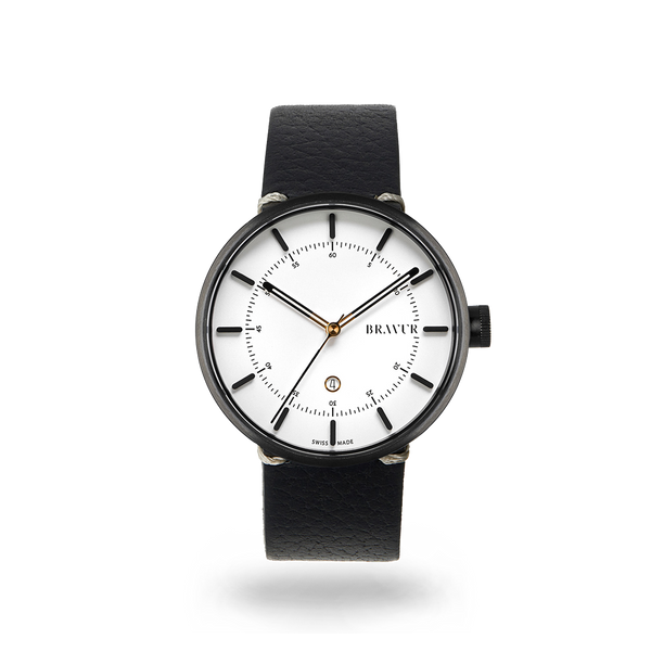 SAMPLE - BW002B Silver white dial