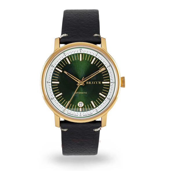 BW003 Gold PVD - Bottle Green dial