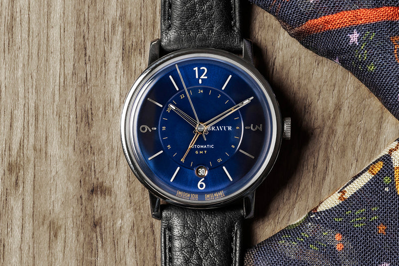 Sample - Geography midnight blue dial