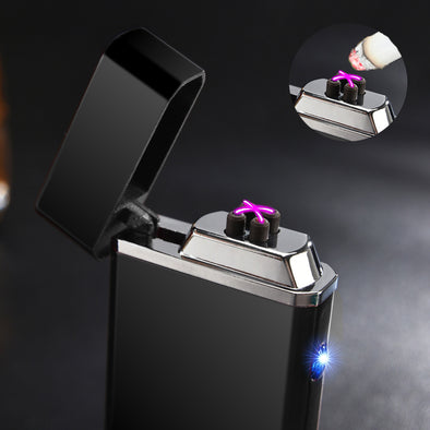 Electric Double Arc Lighter Rechargeable Windproof Torch