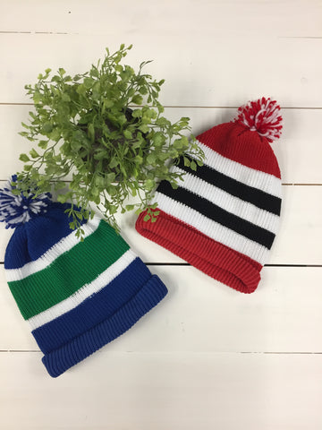 hockey pom pom hats
