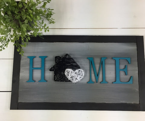 Home Sign String Art