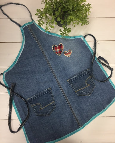 Kids denim apron