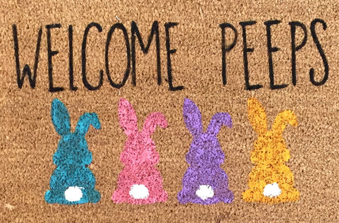 welcome peeps doormat