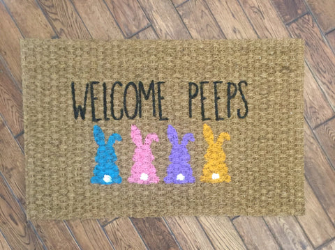 welcome peeps doormat large