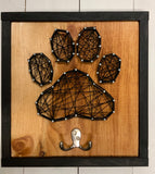 Paw print string art with hook
