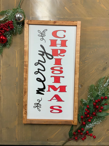 Merry Christmas sign black/red