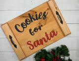 Wooden cookies for Santa trays