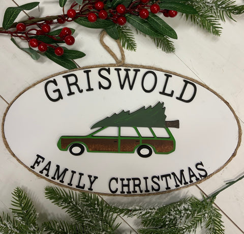 Griswold family Christmas oval sign