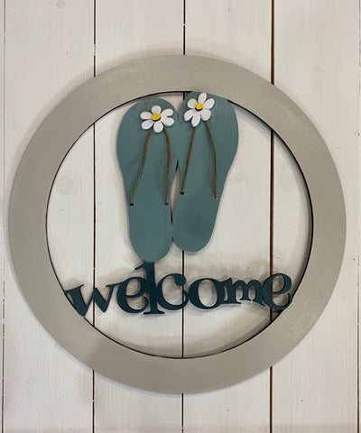 Flip flop welcome wreath