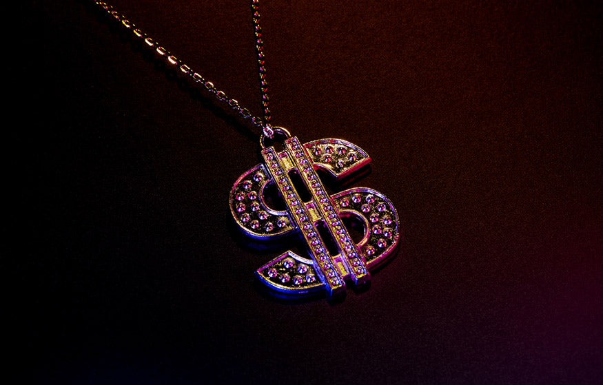 dollar symbol necklace