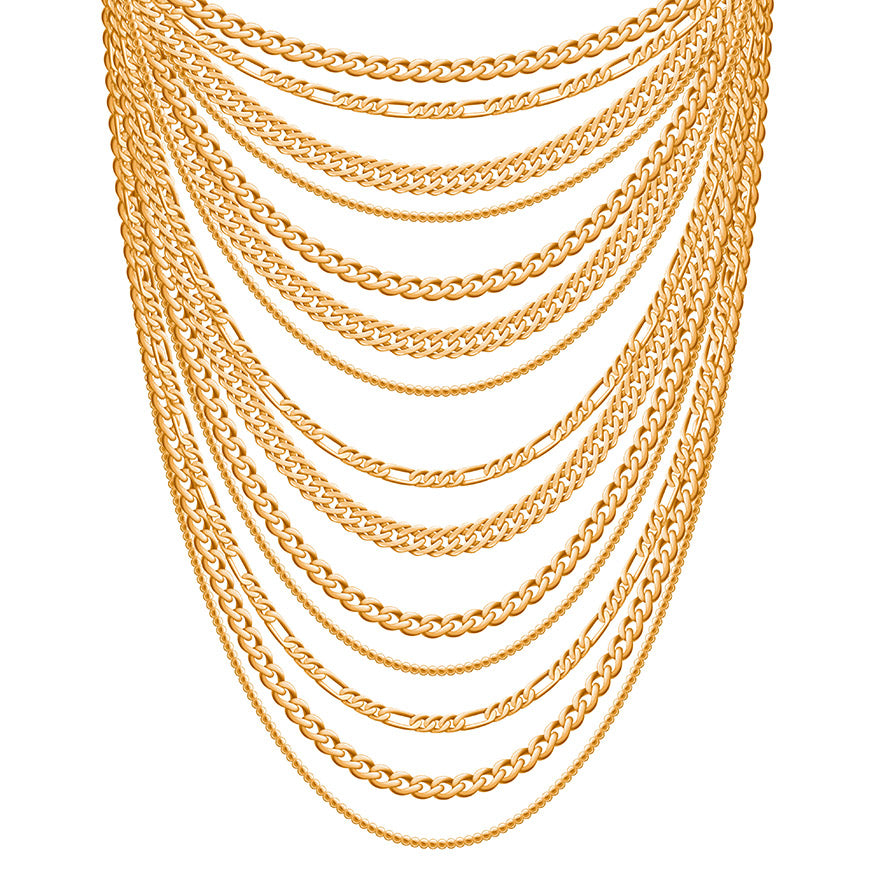 golden metallic necklaces