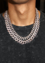 White Gold Diamond Miami Cuban Link Choker