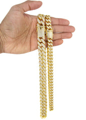 Yellow Gold Diamond Miami Cuban Link Choker