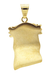 Mens Gold Jesus Head Pendant | 24.8 Grams