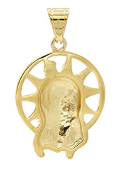 Mens Gold Jesus Head Pendant | 12 Grams