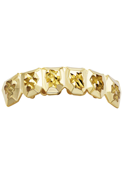 Gold Diamond Cut Grillz | 2.8 Grams