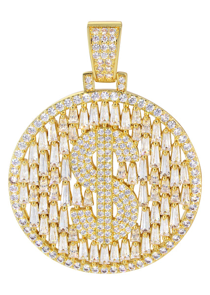 14K Gold Money Sign Pendant | 12.7 Grams