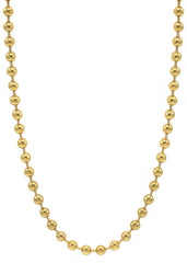 14K Gold Plated Mens Chain Dog Tag