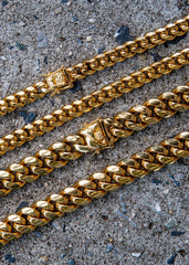 Double Miami Cuban Link ( 10 MM & 14 MM )