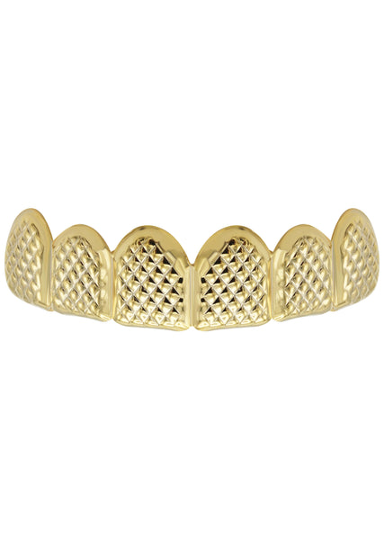 Gold Diamond Cut Grillz | 4.1 Grams