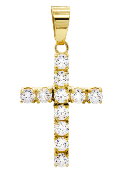 Mens Gold Cross Pendant | 4.4 Grams