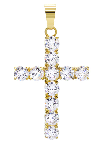 Mens Gold Cross Pendant | 8 Grams