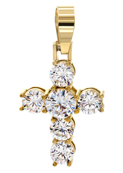 Mens Gold Cross Pendant | 11.5 Grams