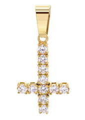 Mens Gold Cross Pendant | 2.7 Grams