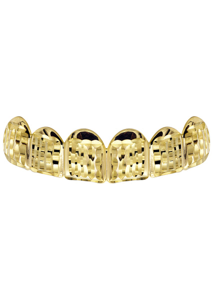 Gold Diamond Cut Grillz | 3.8 Grams