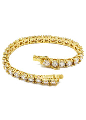 14K Gold Mens Tennis Bracelet