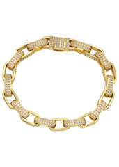 14K Gold Diamond Hermes Bracelet