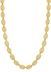 14K Gold Iced Out Gucci Chain