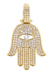 Mens Gold Hamsa Hand Pendant | 10 Grams