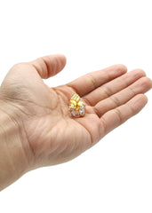 Mens Gold Cubic Zirconia Pendant | 11 Grams