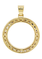 Mens Gold Circle Pendant | 17 Grams