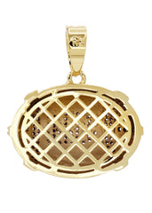Mens Gold Football Pendant | 7.3 Grams