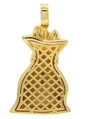 Mens Gold Money Bag Pendant | 11.9 Grams